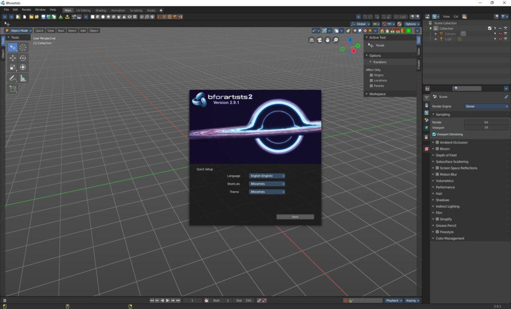 Bforartists 2 version 2.9.1 released