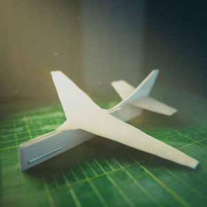 #blenderroyal - Numero 42 - Prompt: Paper Airplane