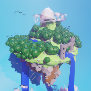 Blender Battle - Floating Island