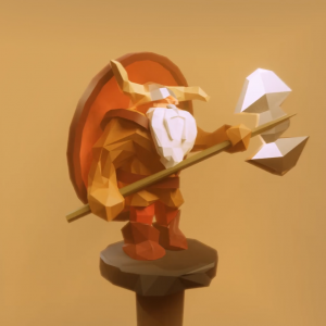#BlenderRoyale - Numero 23 - Low Poly Game Character